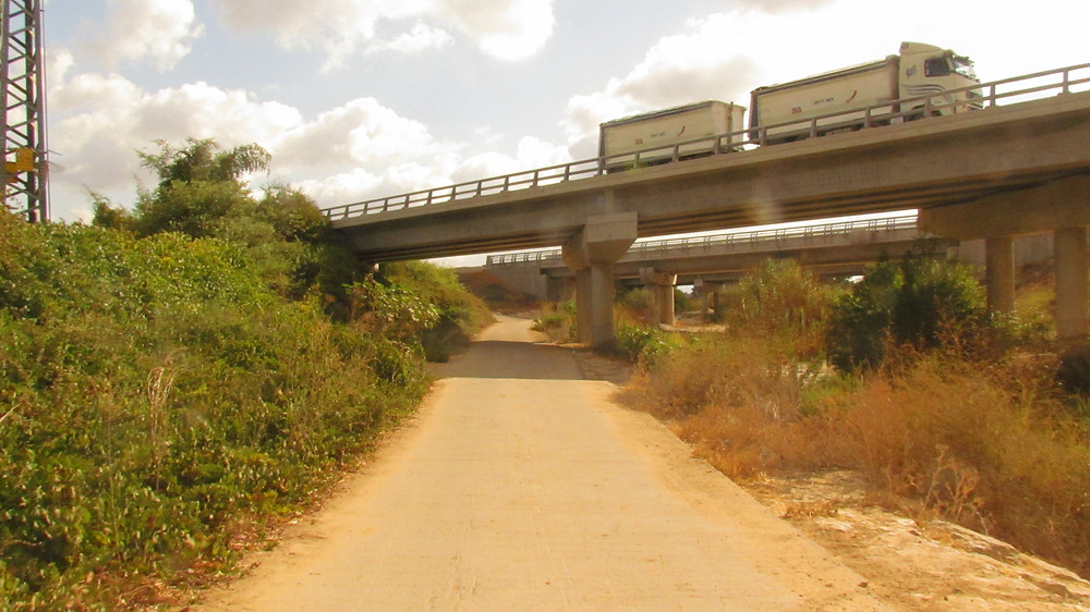 Road 6 Toll Road over the Sorek stream