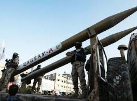 Arab rockets into Israel