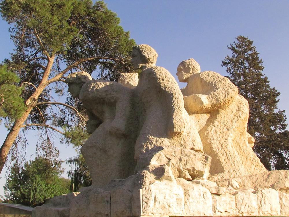 memorial to the pioneers at Kfar Yehoshua