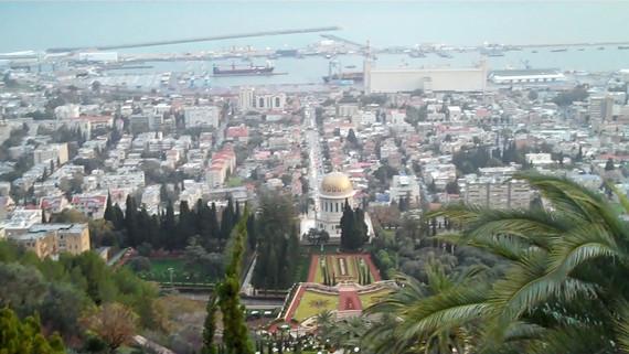Bahai gardens view