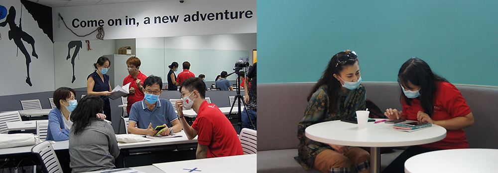 Participants are enquiring about courses in TVI City Commune @ The Cathay Campus with our programme consultants