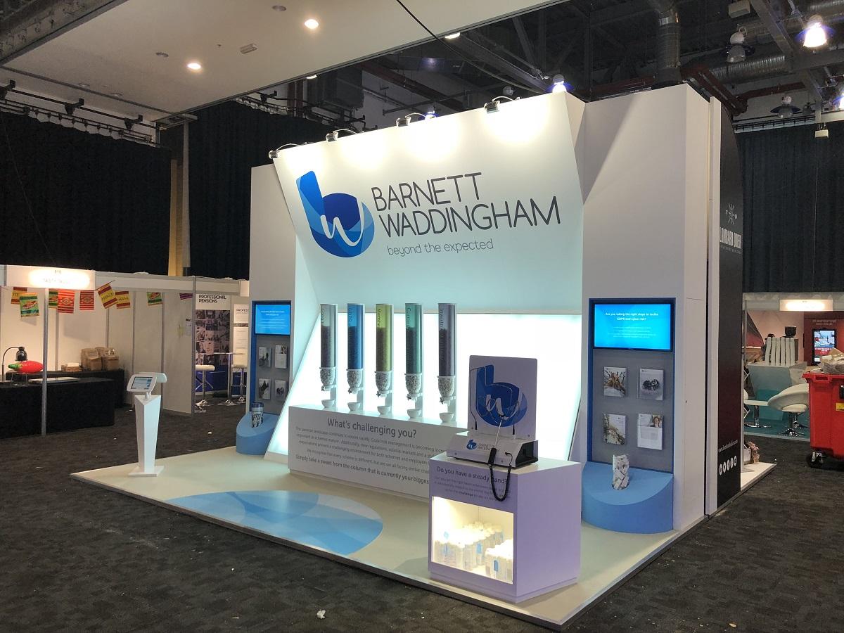 Barnett Waddingham exhibition stand