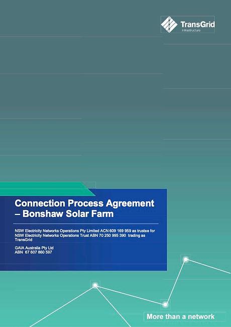 Connection Process Agreement - GAIA Bons