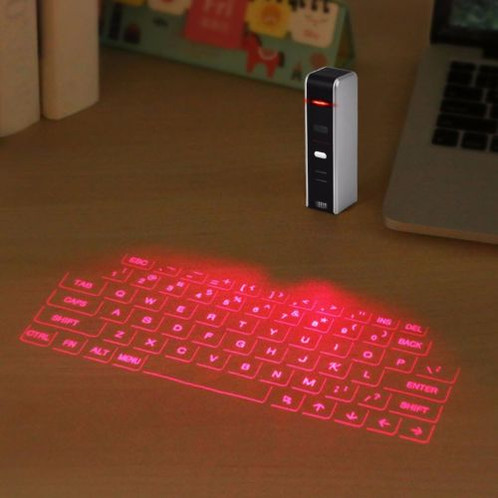 Easliy Pair Laser Projection Keyboard Mouse For Your Iphone Ipad Smartphone Laptop Or Tablets