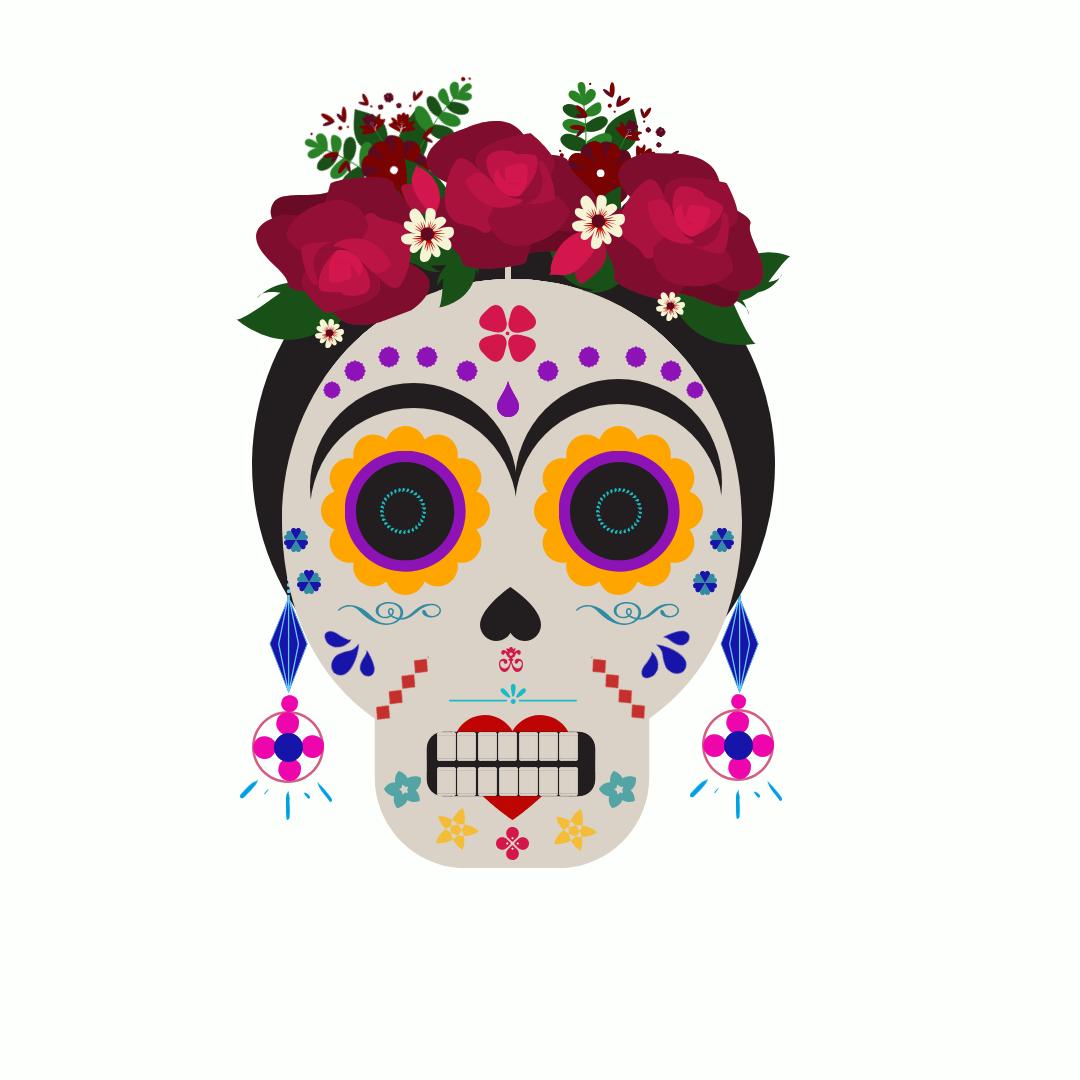Beige Skulls Cinco De Mayo Instagram Pos