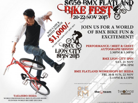 【海外公演】シンガポール ONE KM Mall 『SG50 BMX Flatland BIKE FEST 2015』