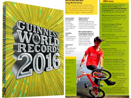 書籍版『ギネス世界記録2016(世界共通)』に掲載