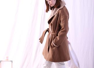 W Face Shawl Coller Coat