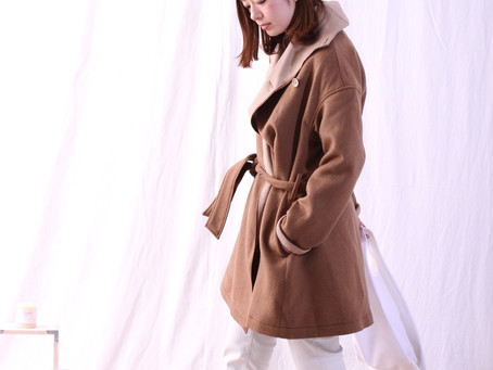 W Face Shawl Coller Coat