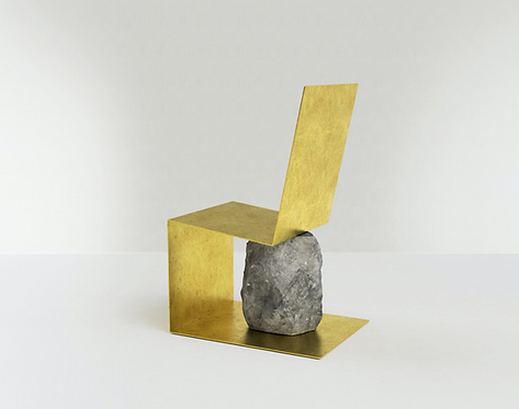 Steel and Stone Chair 1