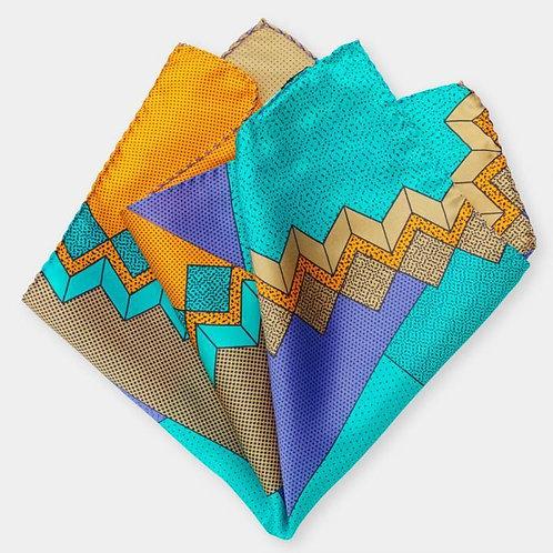 Pocket Square (light-blue russet)