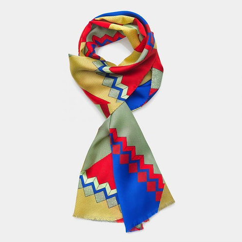 Scarf (red-blue)
