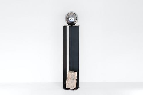 Steel and Stone Floor Light