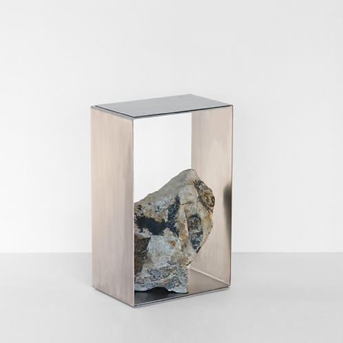 Steel and Stone Side Table 2