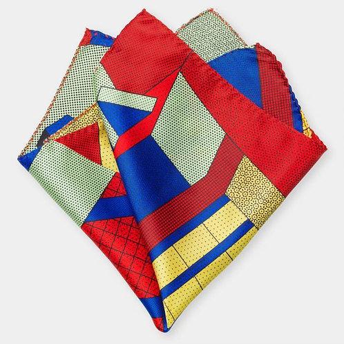 Pocket square (red-blue)