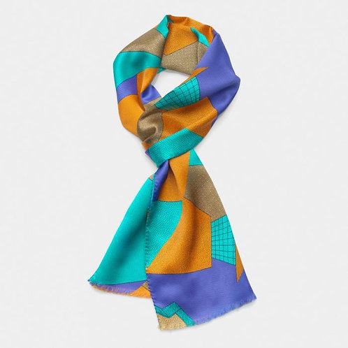 Scarf (light-blue russet)