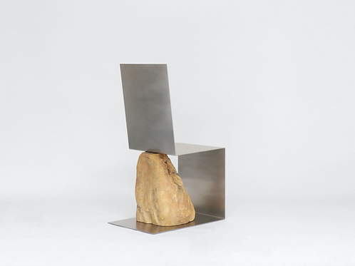 Steel and Stone Chair 2