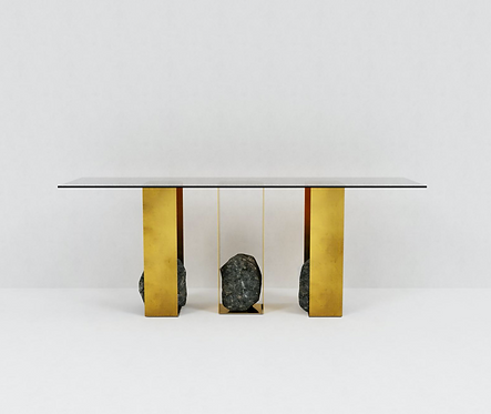 Steel and Stone Console 01