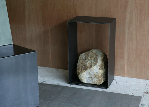 Steel and Stone Side Table 3