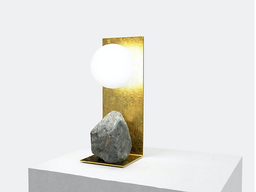 Steel and Stone Table Light