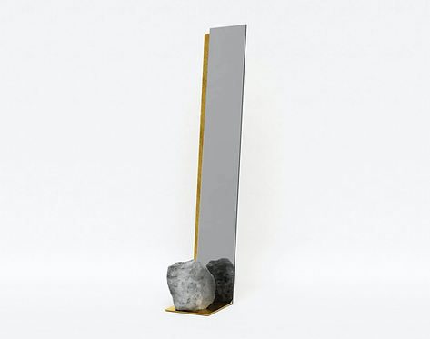 Steel and Stone Mirror