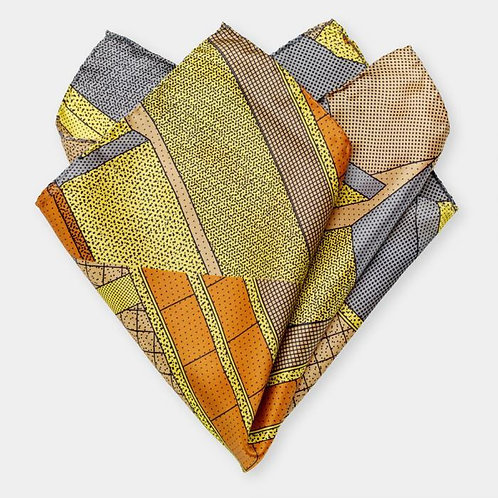 Pocket Square (yellow-brown)