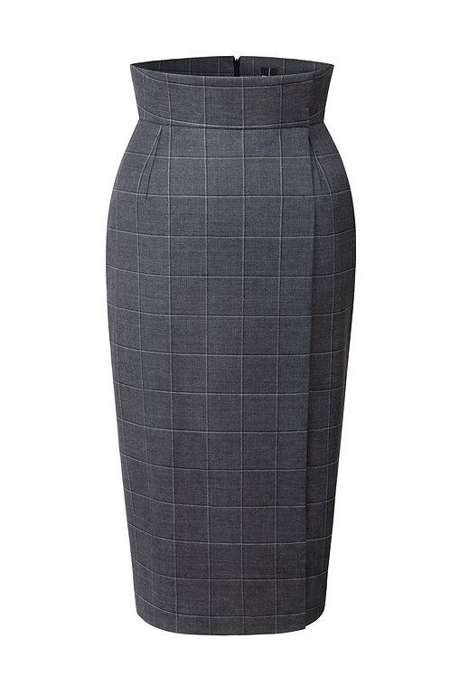 Pouzdrová sukně s vysokym pasem