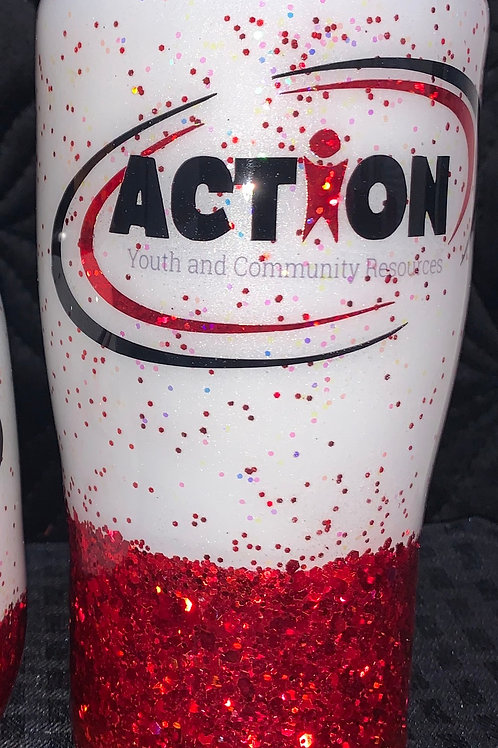 20oz. Glitter Action Cup
