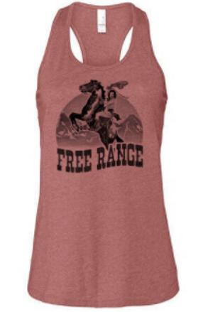 Free Range Rider Tank in Heather Mauve
