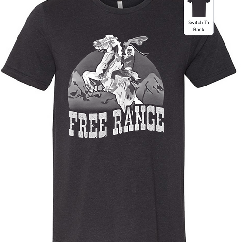 Free Range Cowgirl Graphic Short Sleeve - Solid Color