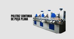 polimento automático e continuo de peça plana