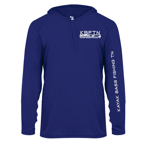 Blue Badger Brand Performance Hooded Tshirt