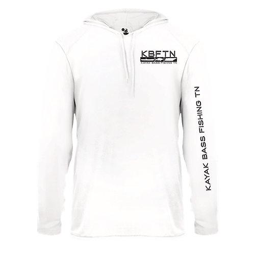 White Badger Brand Performance Hooded Tshirt