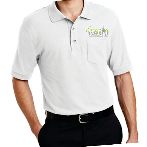 Embroidered Polo With Pocket