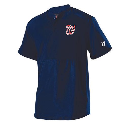 Badger - Short Sleeve Stretch Woven Batters Jacket