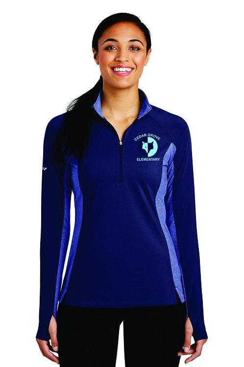 Ladies Sport-Tek® Sport-Wick® Stretch Contrast 1/2-Zip Pullover