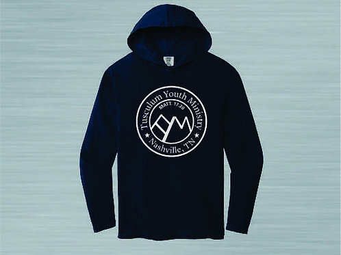 TS-Comfort Colors Hooded Tee Round Logo