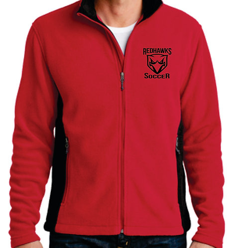 Embroidered Full Zip Fleece Jacket