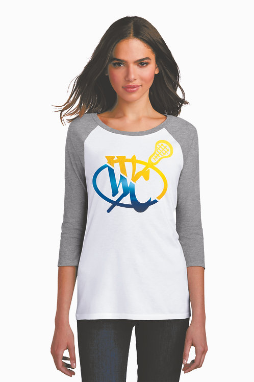 Metallic Print Ladies Raglan