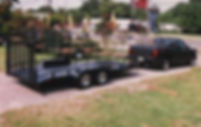 20' trailer with steel deck,dovetail,spring assist gate,chrome wheels