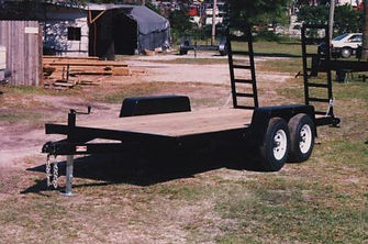 "6' 10"" x 16' tandem equipment trailer with 6000 pound axles,split ramps"