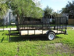 "6x10 with gate,3500 pound Dexter EZ lube axles,15"" tires"