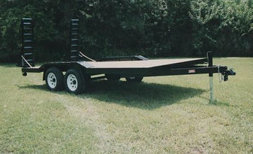 "102"" x 18' tandem trailer,6000 pound axles,drive over fenders for monster truck"