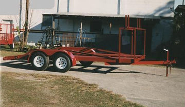 16' car trailer with tire rack