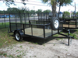 6x10 with gate,2' expanded metal sides,3500 pound axle,spare tire