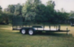"6' 4""x16' tandem with gate, 3500 pound axle, 15"" tires, electric brakes"