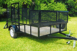 6x10 utility trailer with expanded metal sides, landscape box,weedeater rack.