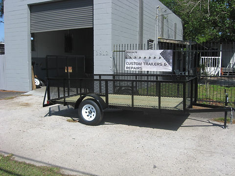 6x12 with 2' expanded metal sides, 3500 pound axle.