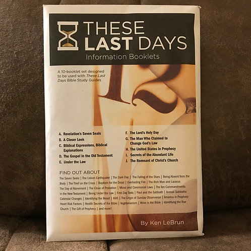 These Last Days Information Booklets