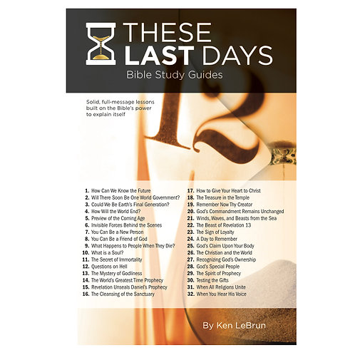 These Last Days Bible Study Guides